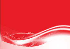 L'abstrait rouge raye le fond