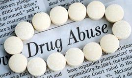 L'abuso di droga è un problema del social del nationwise Fotografia Stock