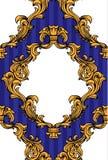 L'acanthe baroque de vecteur laisse à cadre le modèle sans couture Photographie stock