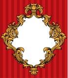 L'acanthe baroque de vecteur laisse le cadre Images libres de droits