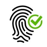 L'accès biométrique a accordé l'icône de vecteur illustration de vecteur