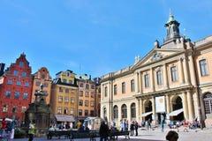 L'accademia svedese a Stortorget in Città Vecchia Fotografia Stock