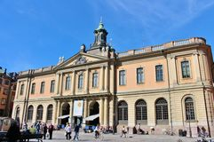 L'accademia svedese a Stortorget in Città Vecchia Immagine Stock Libera da Diritti