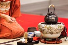 L'accessoire pour la cérémonie de thé japan images stock
