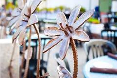 L'acciaio metallico fiorisce l'arte Fotografia Stock Libera da Diritti