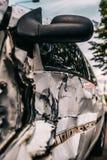 L'accident d'accident de voiture a endommagé Fond photo stock