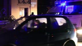 L'accident de voiture terrible la nuit Images libres de droits