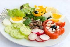 L'acciuga delle specialità gastronomiche si è mescolata - Fotografie Stock