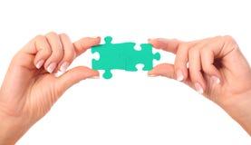 L'accumulazione del puzzle collega le composizioni Fotografia Stock Libera da Diritti