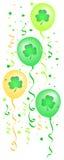 L'acetosella Balloons i coriandoli/ENV Fotografia Stock Libera da Diritti