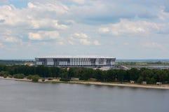 L'achèvement du stade pour le championnat du football en Rostov-Na-Donu Images libres de droits