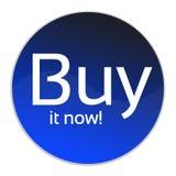 L'achat dans maintenant se boutonnent Photo stock