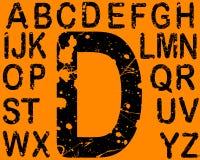 L'acide marque avec des lettres l'A-Z Photo stock