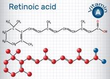 L'acido retinoico è un metabolita del retinolo della vitamina A Structura Fotografie Stock Libere da Diritti