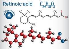 L'acido retinoico è un metabolita del retinolo della vitamina A Structura Immagine Stock