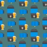 L'acier de rangées d'entreposage en tonneau de carburant de récipient de tambours de bière barrels le modèle sans couture d'entra Photographie stock libre de droits