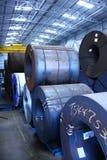 L'acier enroule l'entrepôt Images libres de droits