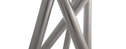 L'acier inoxydable siffle la verticale d'isolement Image libre de droits
