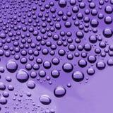 L'acqua cade (colore viola) Fotografie Stock Libere da Diritti