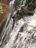 L'acqua che scorre giù Brandywine cade nel parco nazionale dell'Ohio Fotografie Stock Libere da Diritti