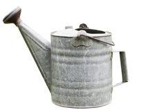 L'acqua dell'annata può su bianco Immagini Stock