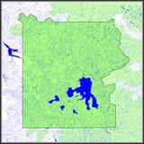 L'acqua di Yellowstone caratterizza la mappa Fotografia Stock