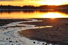 L'acqua incontra l'acqua Fotografie Stock