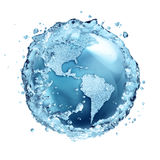 L'acqua ricicla in mondo S.U.A. Immagine Stock Libera da Diritti