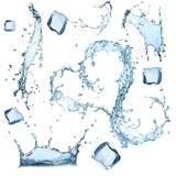 L'acqua spruzza l'accumulazione fotografia stock