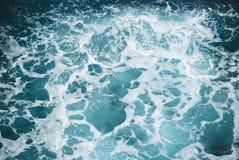 L'acqua spruzza la vista da sopra Fotografia Stock