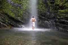 L'acquazzone perfetto Immagine Stock