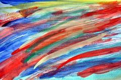 L'acquerello allinea i colpi della spazzola, fondo astratto Immagini Stock Libere da Diritti