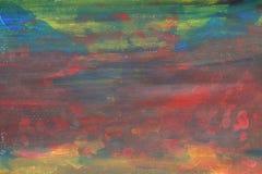 L'acquerello astratto ruvido scherza la bella arte variopinta della pittura Fotografia Stock Libera da Diritti