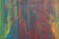 L'acquerello astratto scherza la bella arte variopinta della pittura Fotografia Stock Libera da Diritti