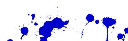 L'acquerello blu spruzza e macchia su fondo bianco Pittura dell'inchiostro Illustrazione disegnata a mano Illustrazione astratta  Immagine Stock