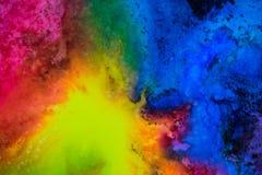 L'acquerello con la galassia dell'arcobaleno schizza immagine stock libera da diritti
