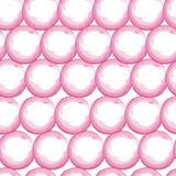 L'acquerello di vettore circonda le mattonelle senza cuciture rosa-rosso del modello Fondo disegnato a mano dei pois illustrazione di stock