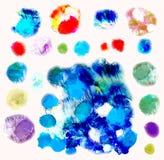 L'acquerello di vettore spruzza, isolato EPS10 Fotografia Stock Libera da Diritti