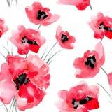 L'acquerello fiorisce il modello senza cuciture royalty illustrazione gratis