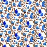 L'acquerello fiorisce il modello senza cuciture Fondo della Boemia Può essere usato per lo spostamento, il tessuto, carta da para royalty illustrazione gratis