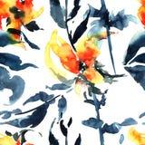 L'acquerello fiorisce l'illustrazione Fotografie Stock