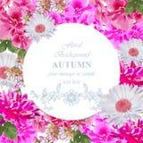 L'acquerello fiorisce la carta del fiore Cartolina d'auguri variopinta d'annata Camomilla e peonie floreali di estate Fiorisca la Fotografia Stock