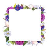 L'acquerello fiorisce la struttura primavera royalty illustrazione gratis