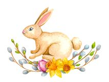 L'acquerello Pasqua mette royalty illustrazione gratis
