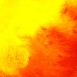 L'acquerello rosso della pittura astratta ha dipinto il fondo dell'illustrazione del cerchio illustrazione vettoriale