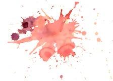 L'acquerello rosso di vettore spruzza Fotografia Stock Libera da Diritti