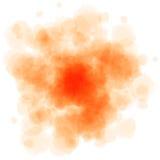 L'acquerello rosso spruzza Fotografia Stock