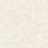 L'acquerello senza cuciture di vettore lascia il modello Fondo beige e bianco della molla Progettazione floreale per la stampa de Immagine Stock Libera da Diritti