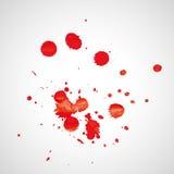 L'acquerello spruzza Fotografia Stock Libera da Diritti