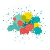 L'acquerello spruzza Dipinga lo splat di vettore Fotografia Stock